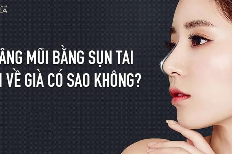 Nâng mũi bằng sụn tai khi về già có sao không? - Nangmuicautrucdep.com