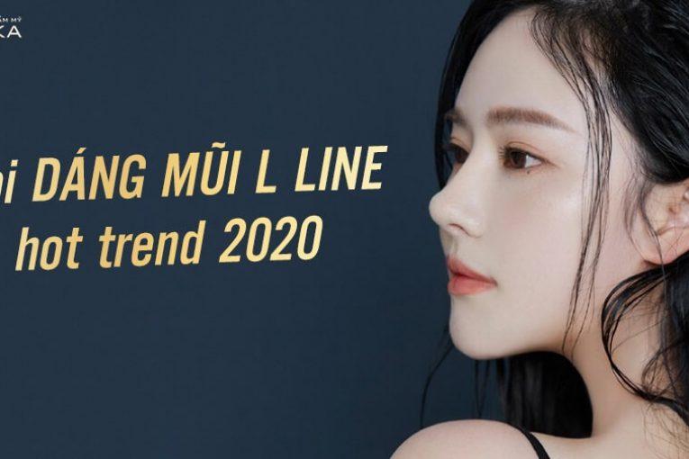Soi dáng mũi cấu trúc L line hot trend 2020 - Nangmuicautrucdep.com