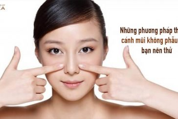 Những phương pháp thu gọn cánh mũi không phẫu thuật nên thử